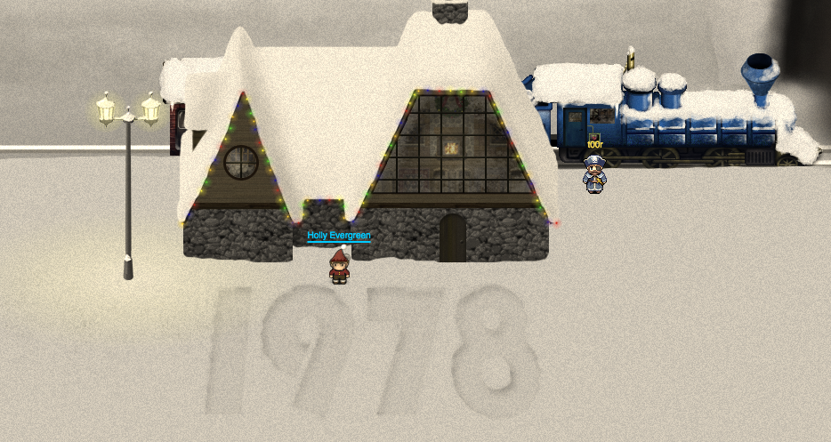 go up to the north to the workshop and visit derf there should be santa claus waiting for you
